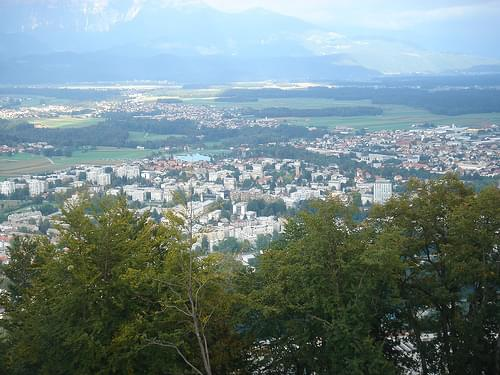 The view from Kranj Castle