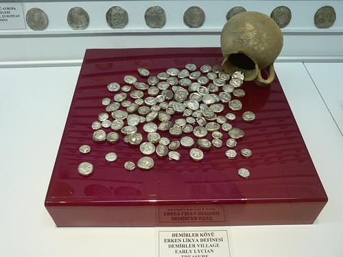 Fethiye museum coins Lycian classical period