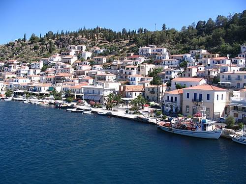 The island of Ydra / Hydra in Greece