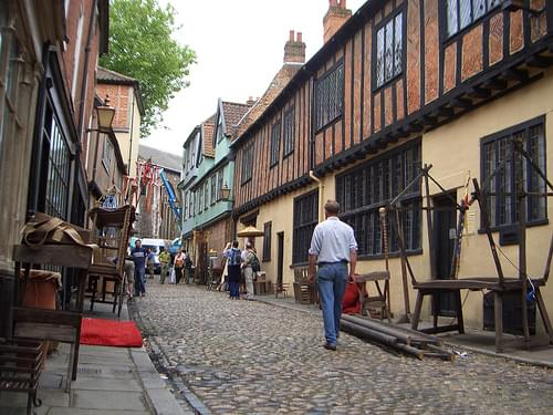 Stardust Film set, Elm Hill, Norwich