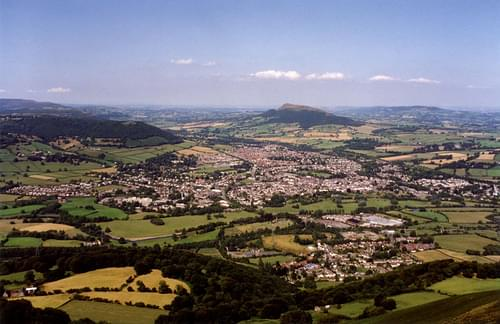 Abergavenny from the Blorenge