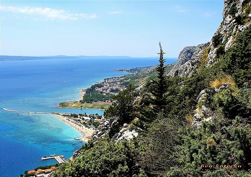 Panorama from Fortica at Omis(Bay of Pirates) and Adriatic Sea