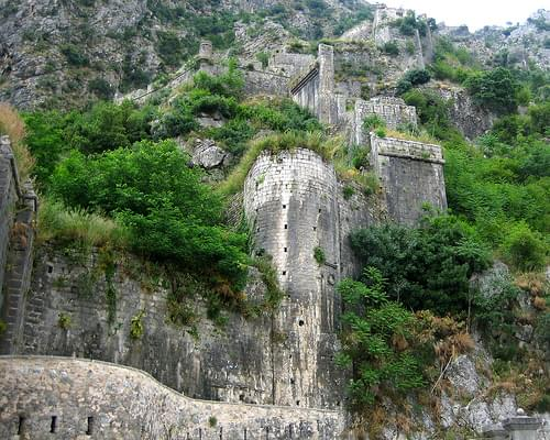 The fortified walls of Kotor