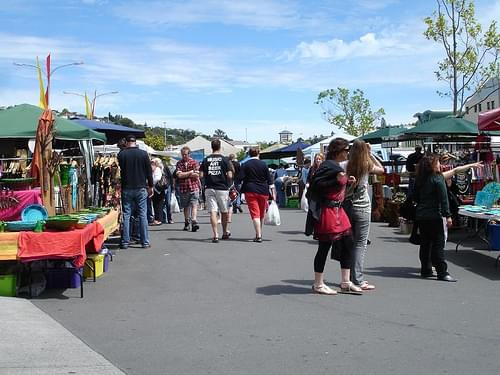 Nelson Saturday market.