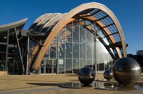 Sheffield Winter Gardens and Steel Balls