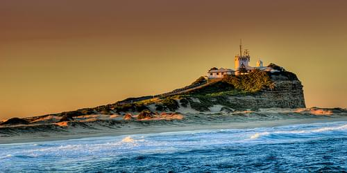 Newcastle, Nobby's Lighthouse at sunset.