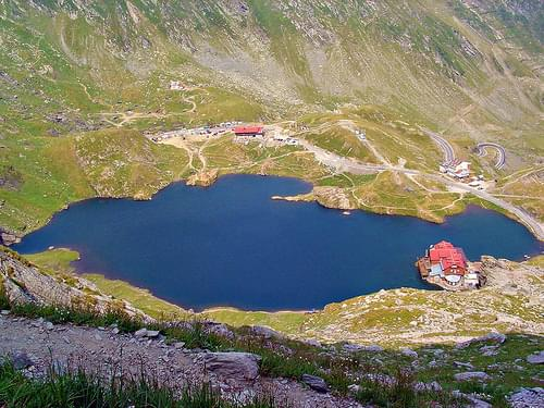 Balea Lake and chalet