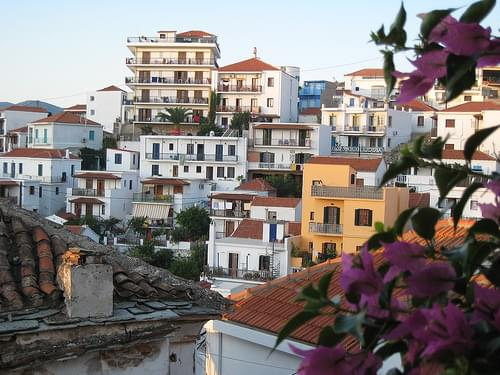 Skopelos city view
