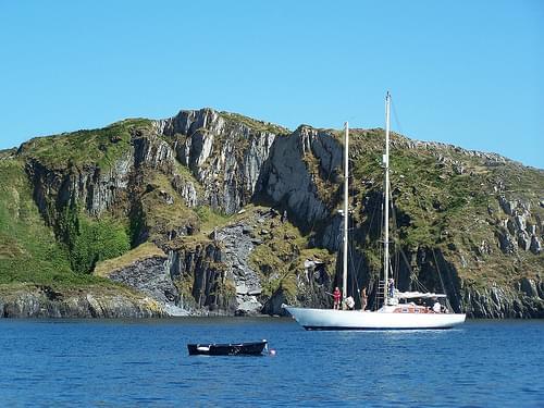 Anna M at anchor Sherkin Island 2006