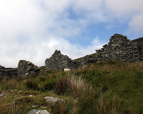 deserted village on Achill Island