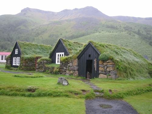 Traditional Icelandic buildings, museum