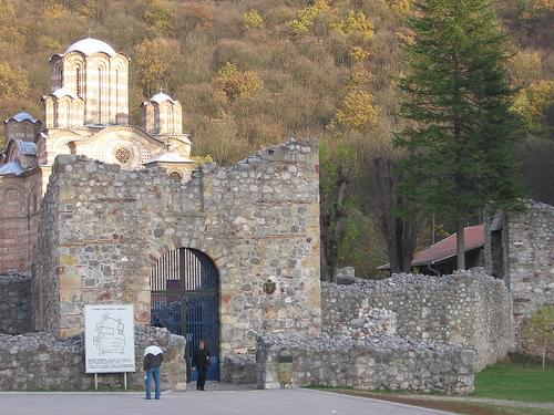 Orthodox monastery entrance