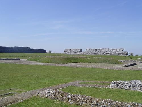 Richborough Castle Fort View