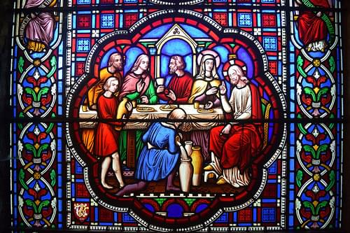 Stained Glass: Wedding Feast of Cana, Ely Cathedral