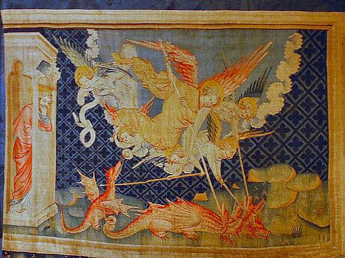 Dragon Fights the Servants of God Tapestry of Apocalypse