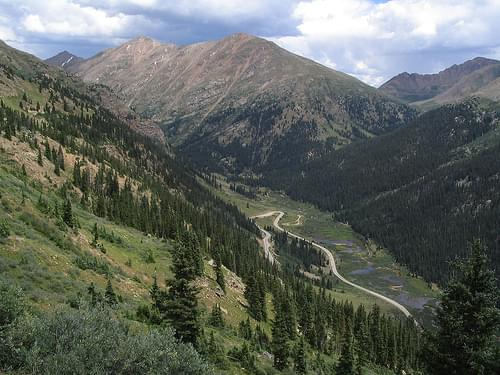 Colorado Route 82 Climbing Towards Independence Pass Between Leadville and Aspen, Colorado