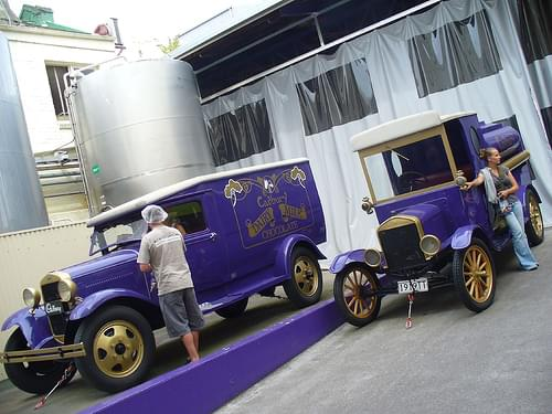 Vintage Model A and Model T Fords, Cadbury World, Dunedin