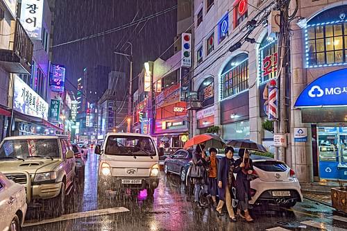Rainy Night at Daegu ,South Korea