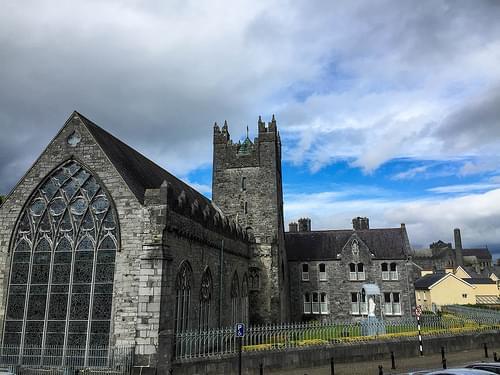 Outside the Black Abbey in Kilkenny