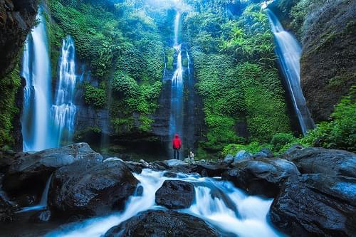 Sekumpul Falls in Bali Indonesia by Michael Matti