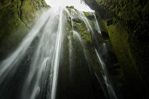 Gljúfrafoss from below