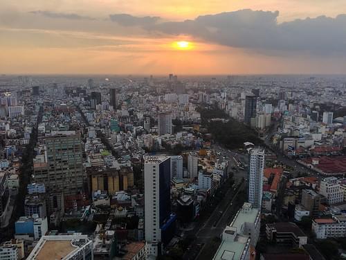 Saigon Skydeck sunset