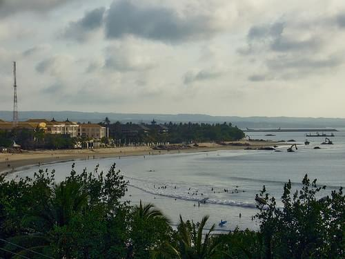 View over Kuta beach and bay on Bali, Indonesia