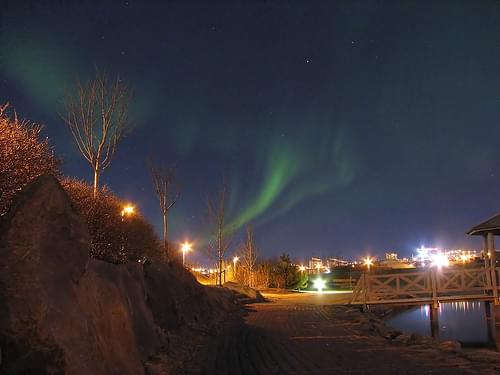 Northern lights in Kópavogur
