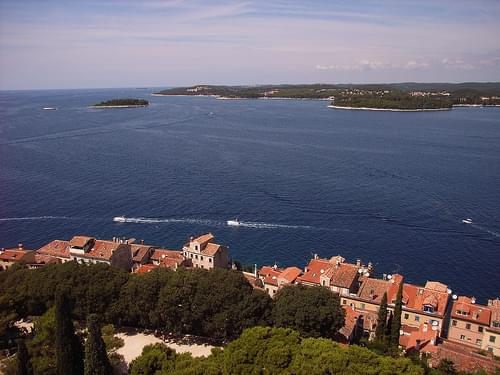 View to the north from the tower of Rovinj