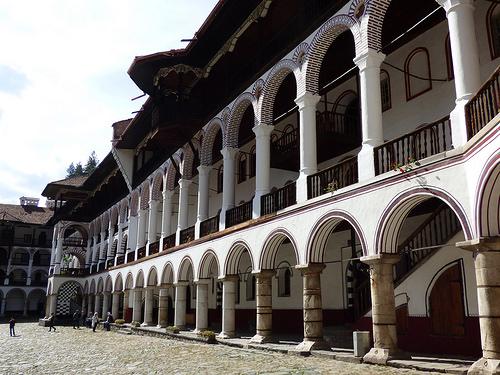 Rila Monastery - central court, arcades