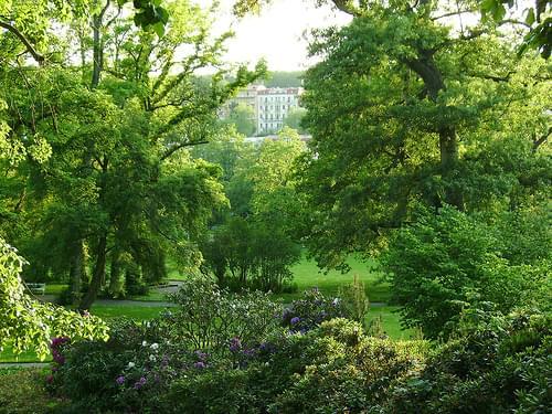 Park in Marianske Lazne (Marienbad) spa, Bohemia