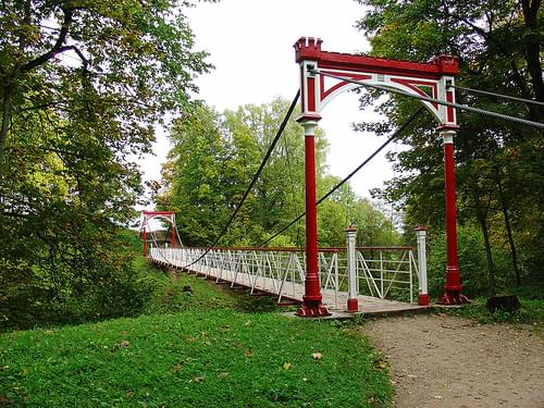 Suspension Bridge, Castle Hill, Viljandi