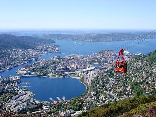 Bergen seen from mount Ulriken