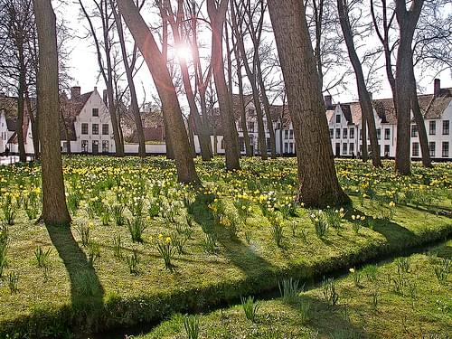 Beguinage in Spring, Bruges