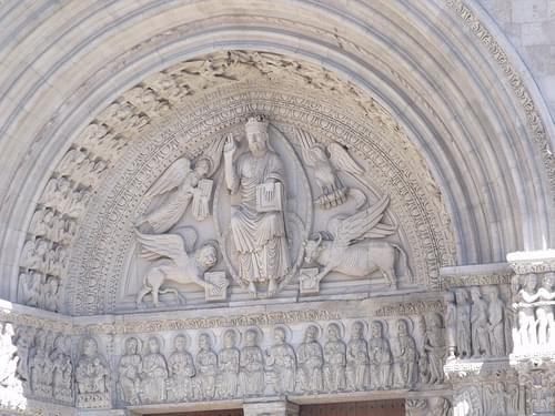Saint Trophime Church - Place de la Republique, Arles - triumphal arch - - The Last Judgement
