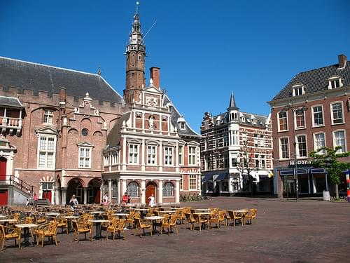 Haarlem City Hall (Left), Seen From Grote Markt