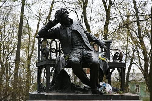 Pushkin on a bench