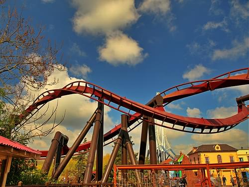 Thorpe Park - A rollercoaster track