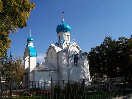 Small orthodox church in Daugavpils, Latvia,