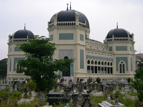 Great mosque in Medan, Indonesia