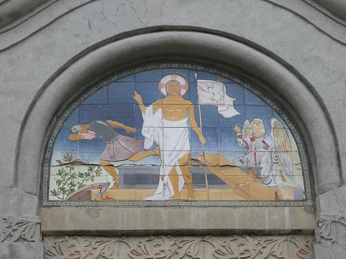 Mural on the church