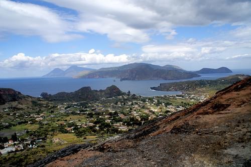 Eolian Islands from top of Vulcano island