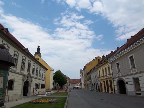 A street view of Varaždin