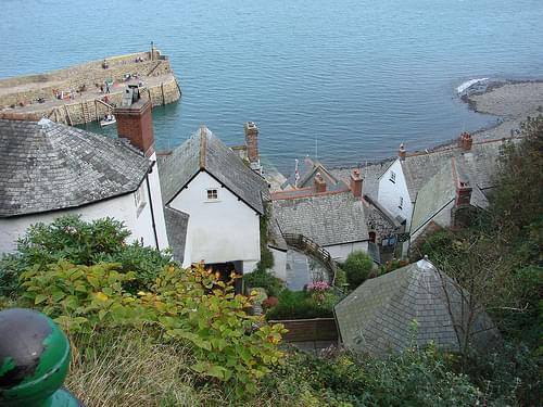 view down into Clovelly
