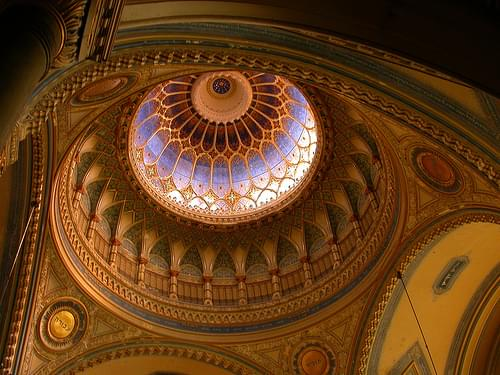 Detail of ceiling, Synagogue, Szeged