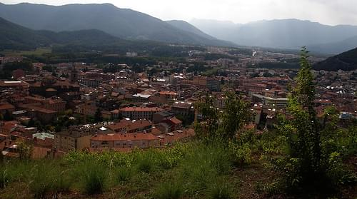 Olot from Volca del Montsacopa