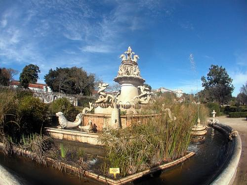 Ajuda Palace Botanic Garden, Seahorse Fountain