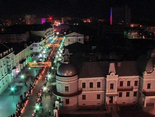 Sumy, Ukraine. Sobornaya street