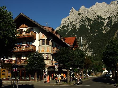 Mittenwald, Blick aufs Karwendel(1)