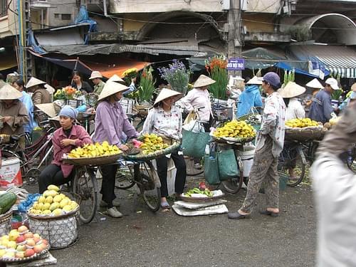 Market in Hanoi/Vietnam